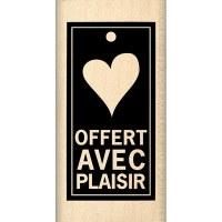 Tampon bois OFFERT AVEC PLAISIR - Florilèges