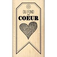 Tampon bois DU FOND DU COEUR - Florilèges