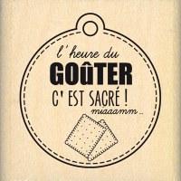 Tampon bois L'HEURE DU GOUTER - Florilèges