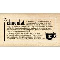 Tampon bois DEFINITION CHOCOLAT - Florilèges