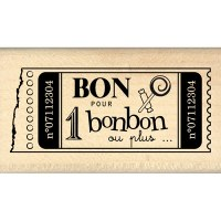 Tampon bois POUR UN BONBON - Florilèges