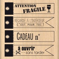 Tampon bois A OUVRIR SANS TARDER - Florilèges