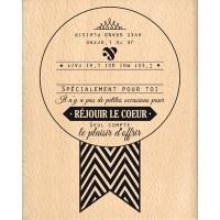 Tampon bois REJOUIR LE COEUR - Florilèges
