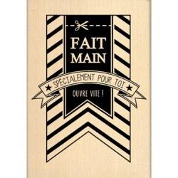 Tampon bois FANION FAIT MAIN - Florilèges