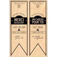 Tampon bois FANIONS CAVALIERS - Florilèges