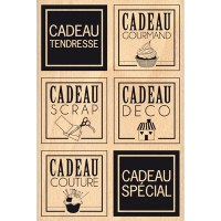 Tampon bois CARRES CADEAUX - Florilèges