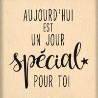 {Capsule octobre 2016}Tampon bois SPECIAL POUR TOI - Florilèges