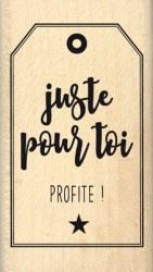 {Capsule octobre 2016}Tampon bois PROFITE - Florilèges