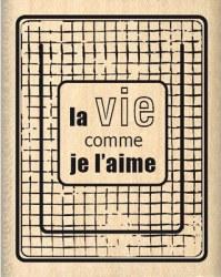 Tampon bois COMME JE L'AIME - Florilèges