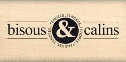 Tampon bois BISOUS ET CALINS - Florilèges