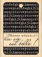 Tampon bois BONNE NOUVELLE - Florilèges