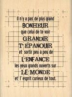 Tampon bois ESPRIT CURIEUX - Florilèges