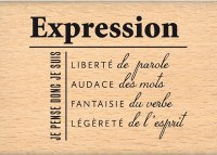 Tampon bois EXPRESSION - Florilèges