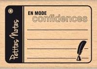Tampon bois PETITES NOTES - Florilèges