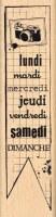 Tampon bois DU LUNDI AU DIMANCHE - Florilèges