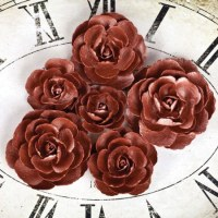 {Sunrise sunset}Fleurs papier roses copper - Prima