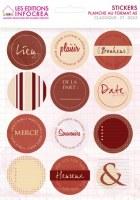 Stickers CLASSIQUE ROND - Infocréa