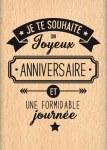 {Capsule octobre 2016}Tampon bois JE TE SOUHAITE - Florilèges