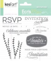 Tampons clear INVITATION - Kesi'art