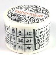 Masking tape CALENDRIER PERMANENT - Ephemeria