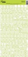 Stickers alpha GREEN GRAPH - Jillibean