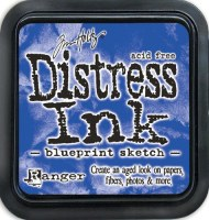 Distress ink - Blueprint sketch