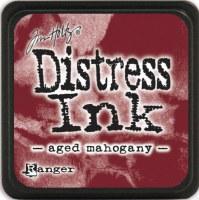 Mini encreur distress AGED MAHOGANY