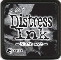 Mini encreur distress BLACK SOOT