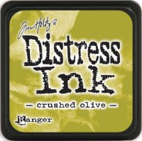 Mini encreur distress CRUSHED OLIVE