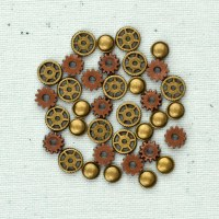 Metal trinkets clock parts - Prima