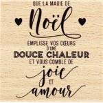 {Capsule novembre 2016} Tampon bois NOEL CHALEUREUX - Florilèges