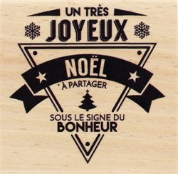 {Capsule novembre 2016} Tampon bois NOEL BONHEUR - Florilèges