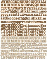 {Life time}Stickers alphabet canvas - Prima