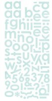 Stickers alphabet MINI MONOGRAM CAPPELLA - Basic grey