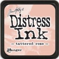 Mini encreur distress TATTERED ROSE