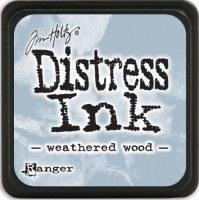 Mini encreur distress WEATHERED WOOD