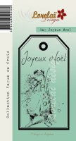 {Vague de froid}Tampon clear TAG JOYEUX NOEL - Lorelaï