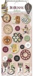 {Beautiful dreamer}Boutons et chipboards boutons - Bo Bunny