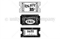 Tampons montés sur mousse YOU'RE THE TICKET - Unity stamp