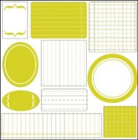 Die cuts SIMPLY JOTTER lime - Luxe designs