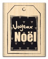 Tampon bois ETIQUETTE TROIS POINTS - Florilèges
