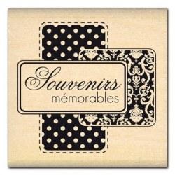 Tampon bois SOUVENIRS MEMORABLES - Florilèges