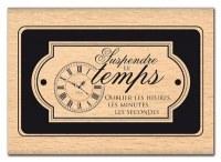 Tampon bois OUBLIER LES HEURES - Florilèges