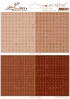 Stickers alphabet AU CARRE - MANUEL CHOCOLAT - Sultane