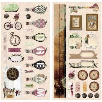 {Beautiful dreamer}Chipboards adhésifs - Bo Bunny