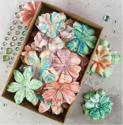 Boxed flowers MELANGE + strass -Prima