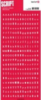 Stickers alphabet script ROUGE ETE - Kesi'art