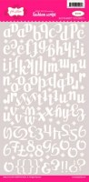 Stickers FASHION SCRIPT WHITE - Pink paislee
