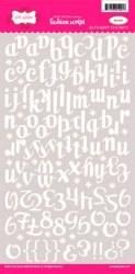 Stickers FASHION SCRIPT WHITE - Pink paislee