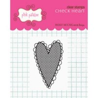 Tampon clear Check heart - Pink paislee